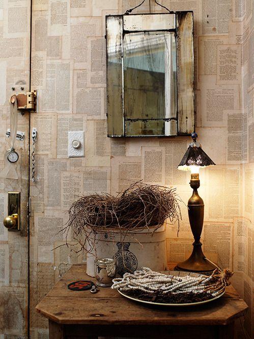El rinc n vintage de karmela la magia de los espejos la - Libros antiguos para decoracion ...