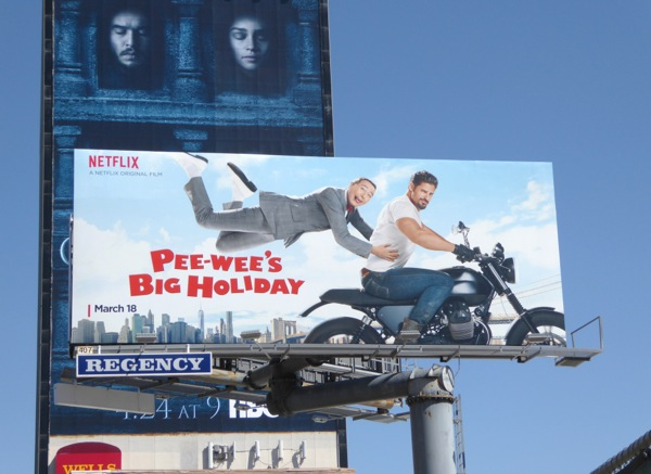 Pee-wee's Big Holiday movie billboard