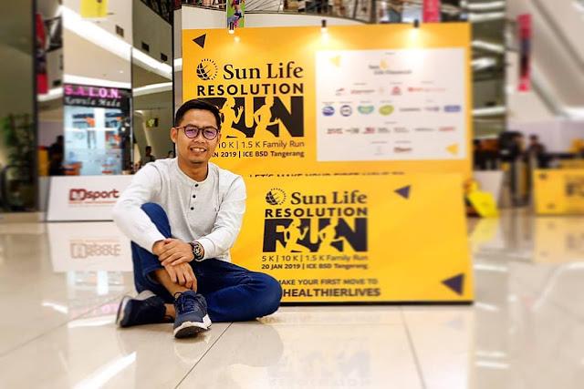 hidup sehat sun life resolution run 2019
