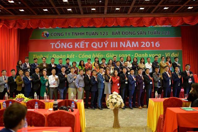 Lễ Tổng kết Quý III năm 2016 - Công ty Bất động sản Tuấn 123