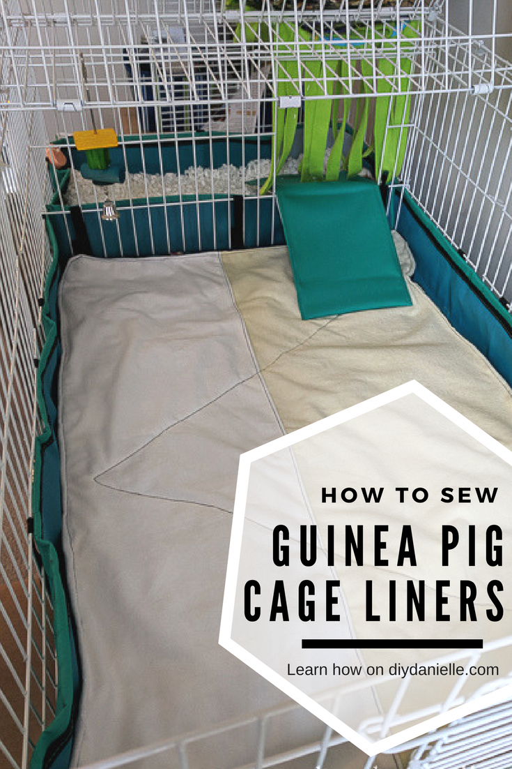 How to sew cage liners for guinea pigs or other small animals.