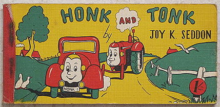 Honk and Tonk by Joy K Seddon Flip book Vintage children's books