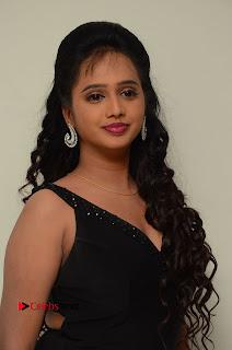 Actress Nakshatra Pictures in Black Long Dress at Miss South India 2016 Press Meet  0002.jpg