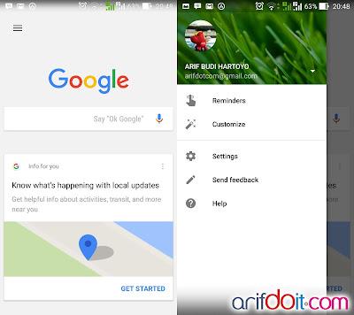 aplikasi google search dan pengaturan