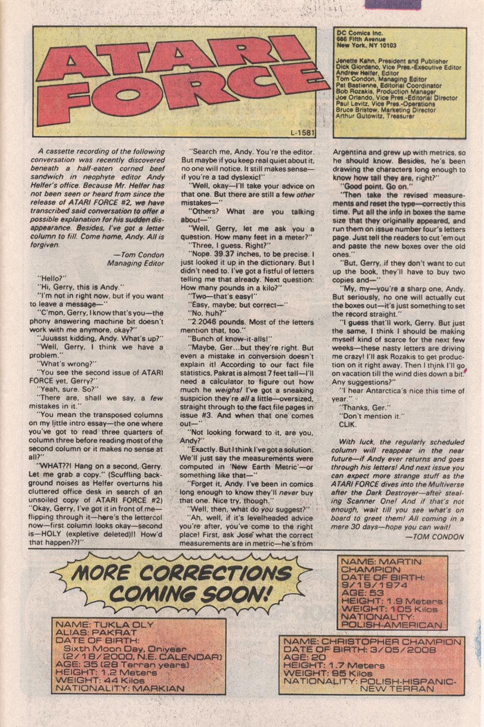 Read online Atari Force (1984) comic -  Issue #4 - 27