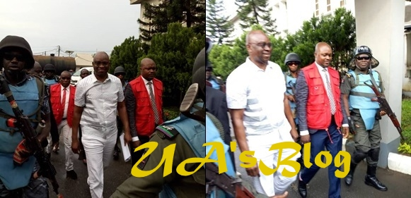 Fayose All Smiles As He Steps Into Court For His Bail Hearing (Photos)