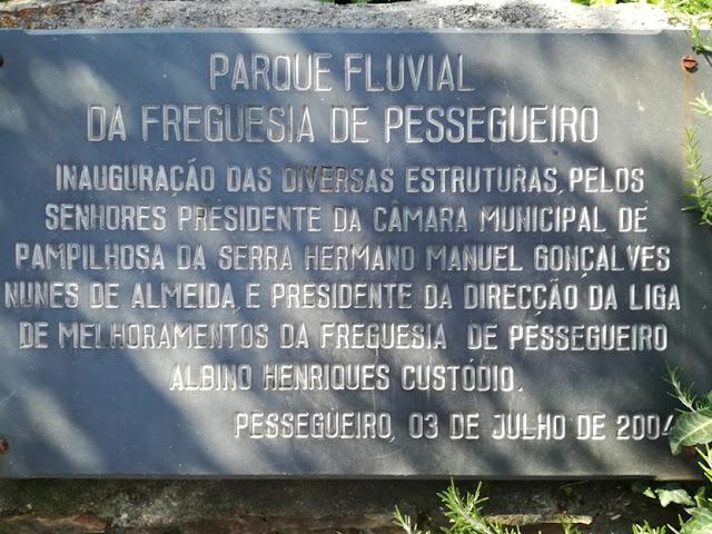 Placa Parque Fluvial de Pessegueiro