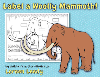 Diagram to label a woolly mammoth, CCSS.ELA-Literacy.RI.2.7