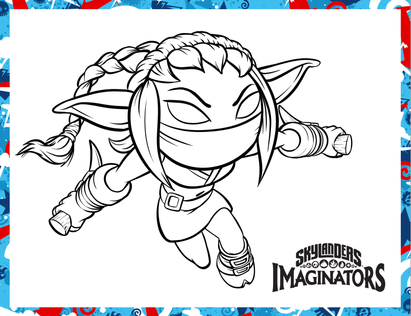 skylanders stealth elf coloring pages - day to day moments get kids moving with skylanders