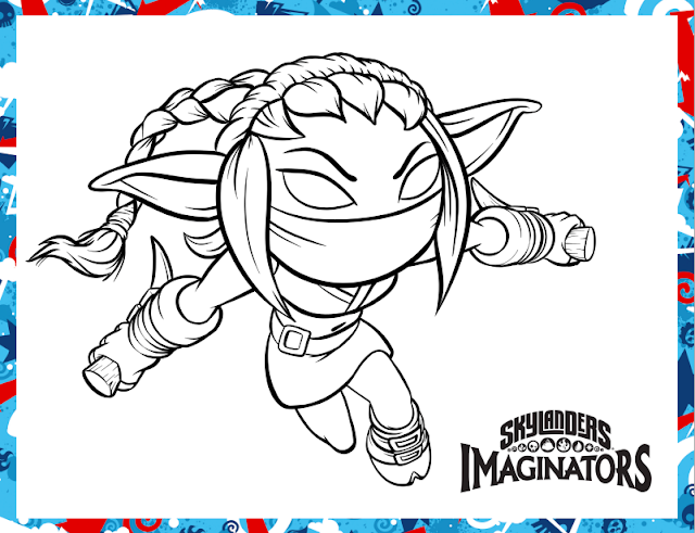 stealth elf skylanders printable