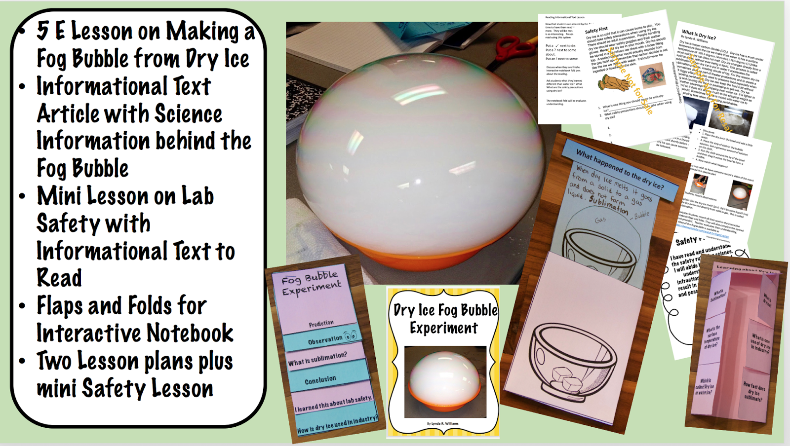 Teaching science with lynda making fog bubbles with dry ice lab safety around dry ice k fob bubble lessons with informational text article robcynllc Gallery