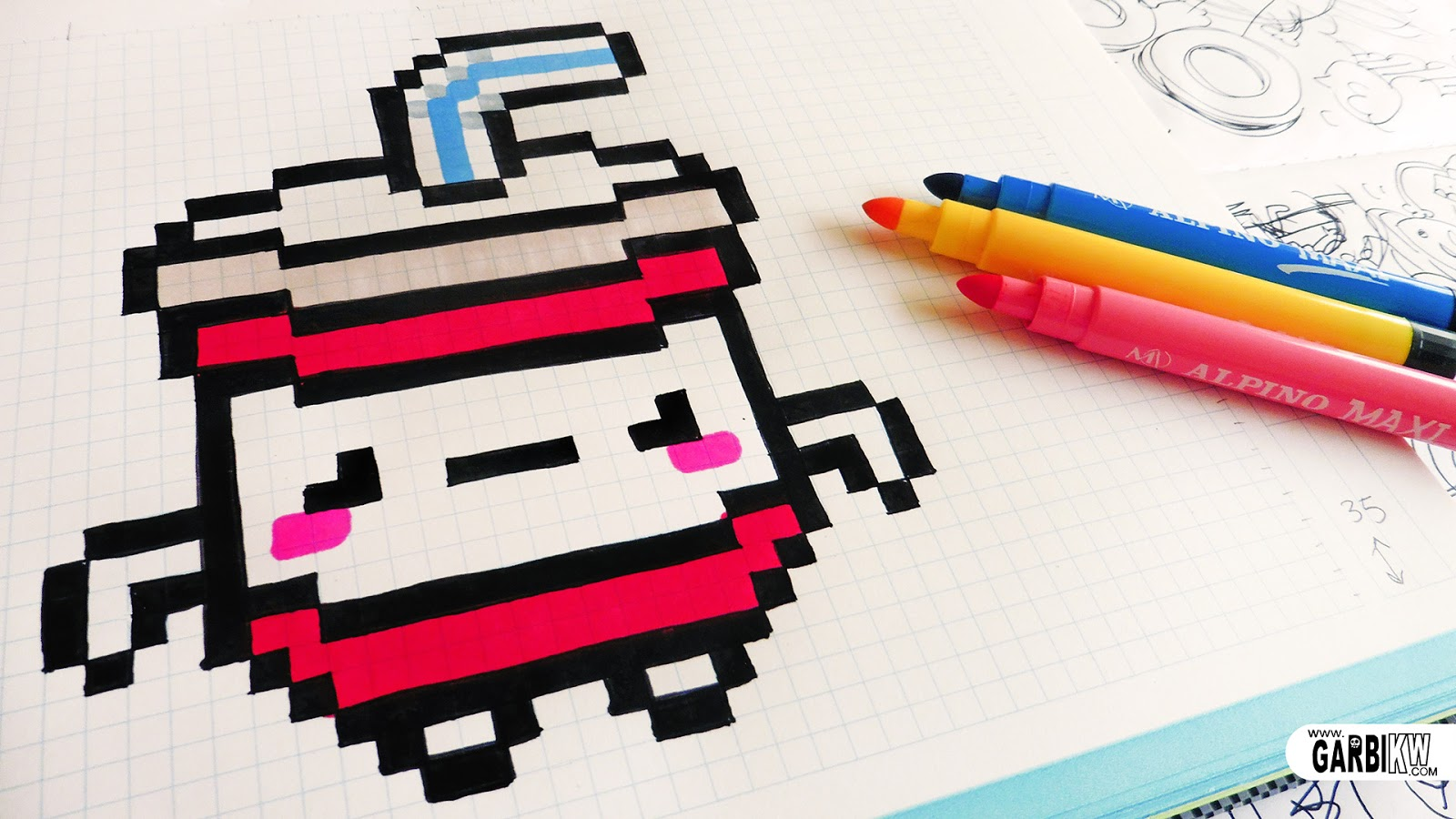Handmade Pixel Art How To Draw Kawaii Soda Pixelart