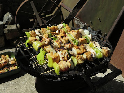 Shish Kabob: Chicken Chunks, Green Chili, Onions