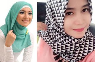 Seputar grosir jilbab segi empat motif dan polos