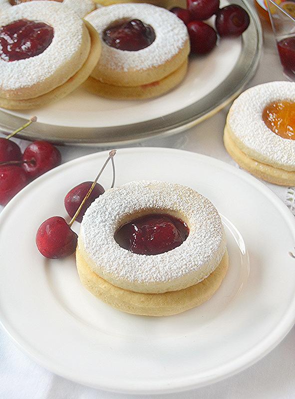 Ben noto Dolci a go go: Biscotti occhi di bue con frolla allo yogurt greco  FY97