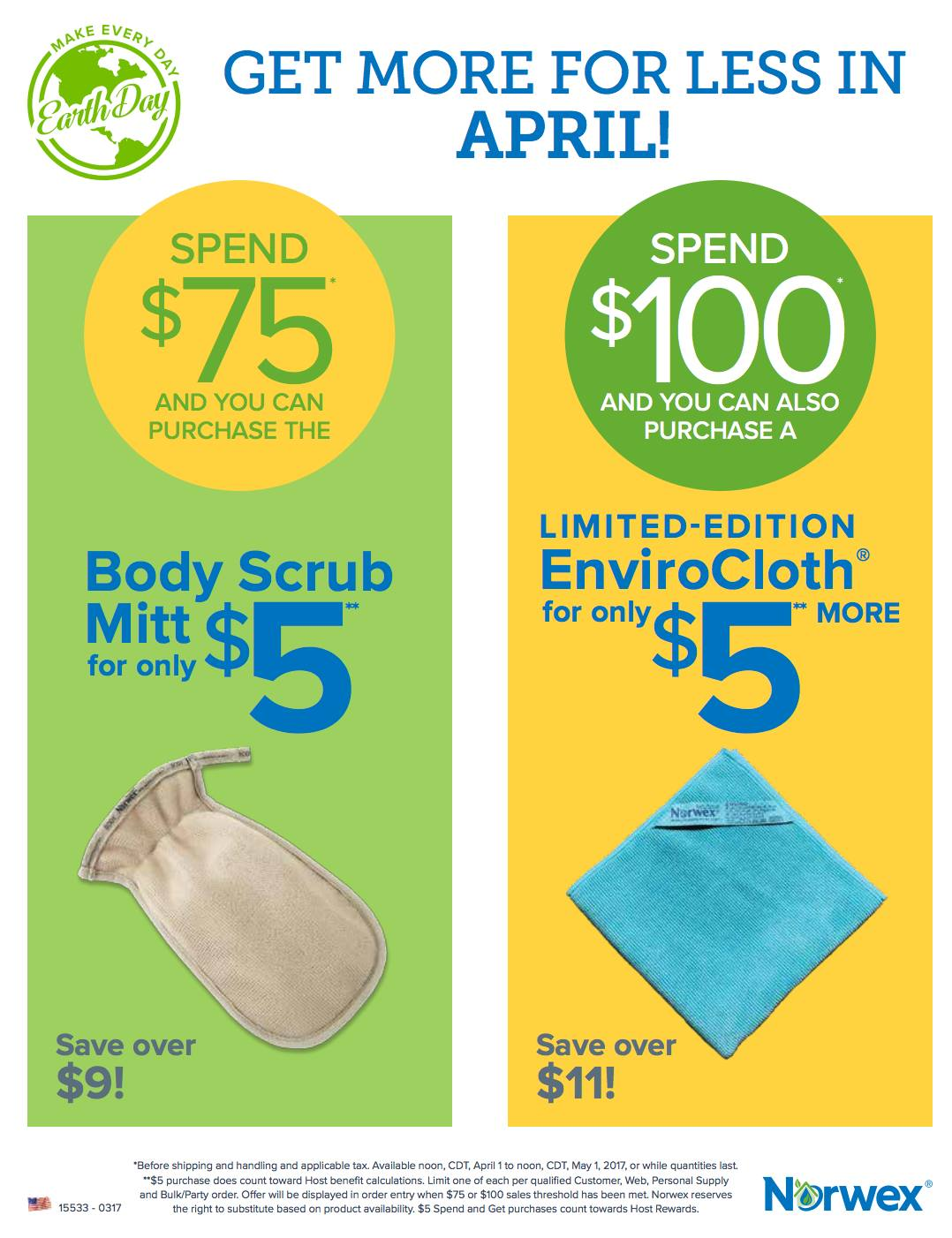 Norwex April  Spend And Get Offer