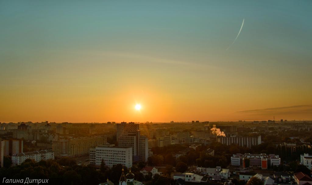 Рассвет Минск с высоты фото