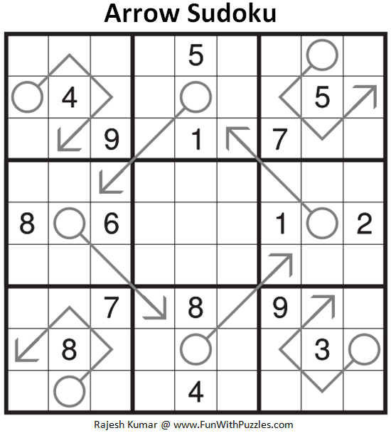 Arrow Sudoku Puzzle (Daily Sudoku League #210)