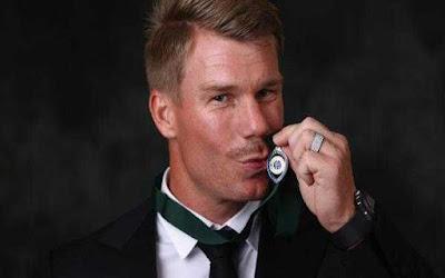 डेविड वार्नर ने लगातार दूसरे साल जीता सर्वश्रेष्ठ ऑस्ट्रेलियाई खिलाड़ी का खिताब