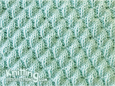 Knit - Purl Combinations. Left Diagonal Rib stitch pattern