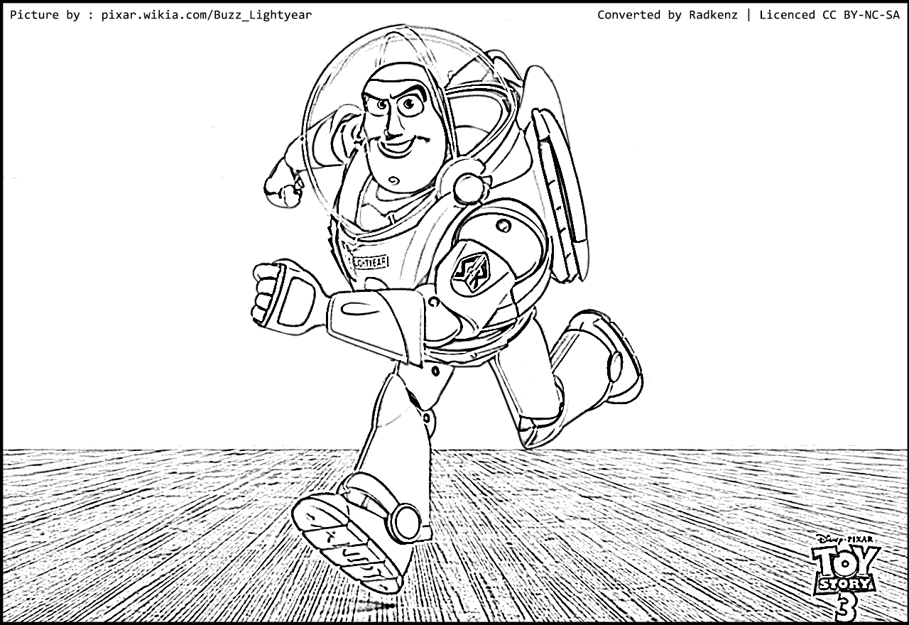 Radkenz Artworks Gallery: Toy story buzz lightyear coloring page