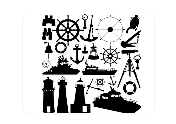Vetores Nauticos, marinheiro vetor, farol, navio, barco