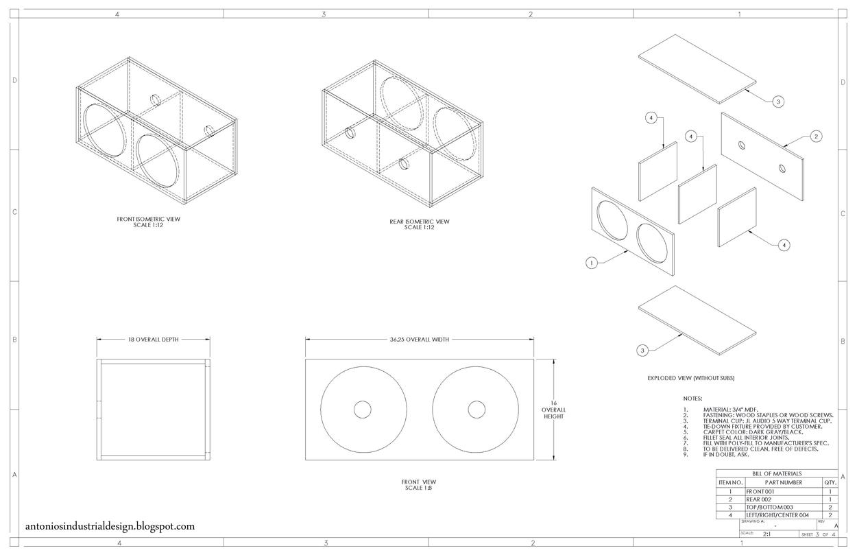Antonio S Industrial Design Subwoofer Box Design Chronicles