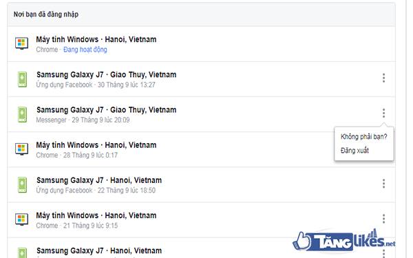 thoat facebook tren thiet bi khac tu xa