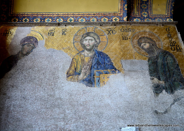 Deesis Mosaic inside Hagia Sophia