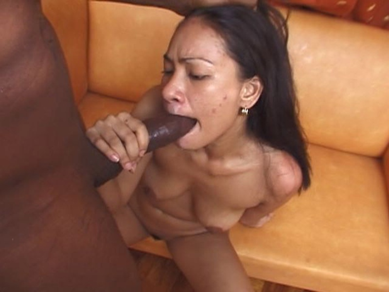 Black girl sucking monster cock