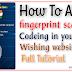 How To Add Fingerprint Scanner In  Wishing Website | MobGyan