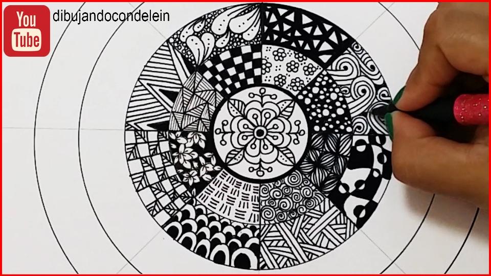 Dibujando Con Delein Como Hacer Una Libreta De Dibujo: Dibujando Con Delein: Como Dibujar Un Mandala #10, Mandala