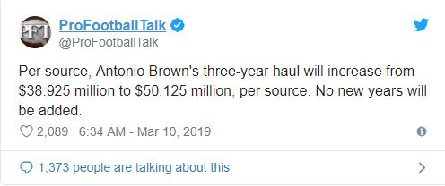 Steelers agree to trade Antonio Brown to Raiders for two draft picks, WR gets pay raise
