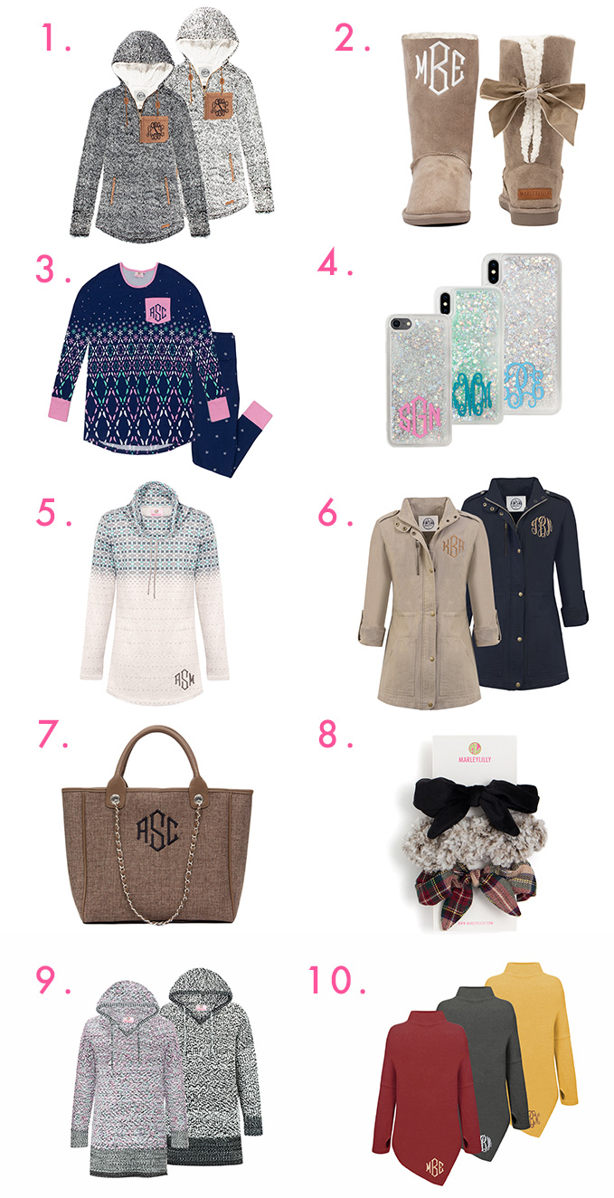 10 new monogrammed items from marleylilly