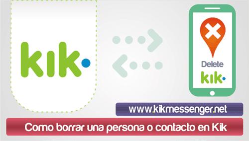Como borrar una persona o contacto en Kik