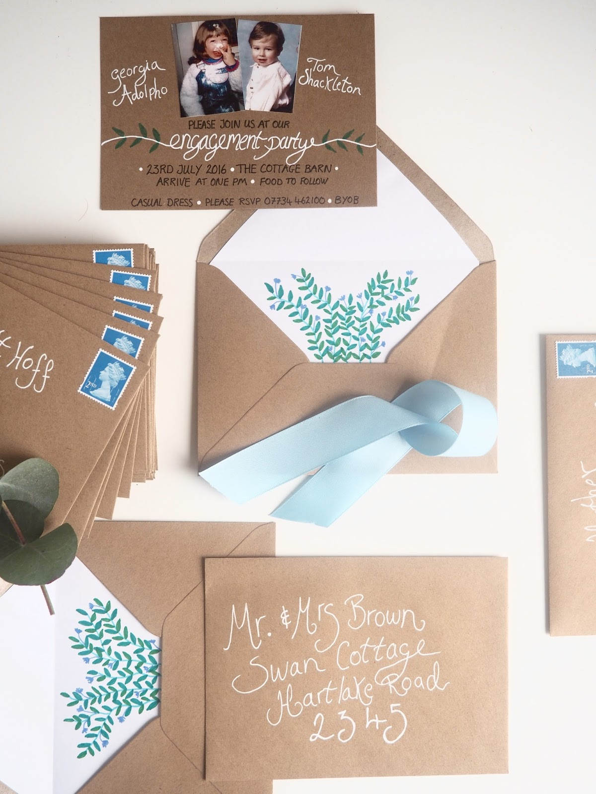 DIY Engagement Party Invitations