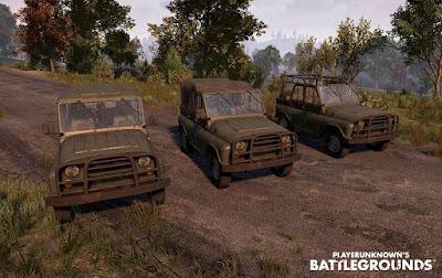 Джипы Playerunknown's Battlegrounds