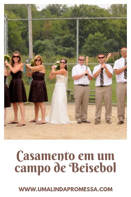 Casamento no campo de Beisebol
