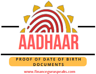 Aadhaar DoB Proof Documents
