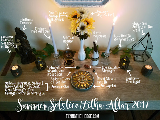 Midsummer Litha Altar 2017