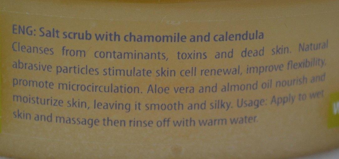 Bio2you SPA Body Salt Scrub with Chamomile & Calendula information