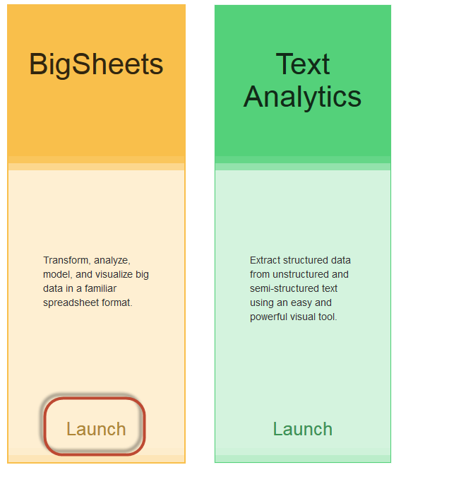 IBM BigInsights - Bigsheets (excel like interface to HDFS