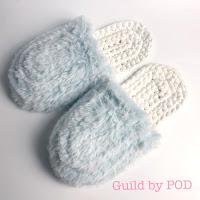 Guild by POD 毛糸ズキ!【無料編み図】TシャツヤーンSmooTeeとリュクスフェイクファーのスリッパ