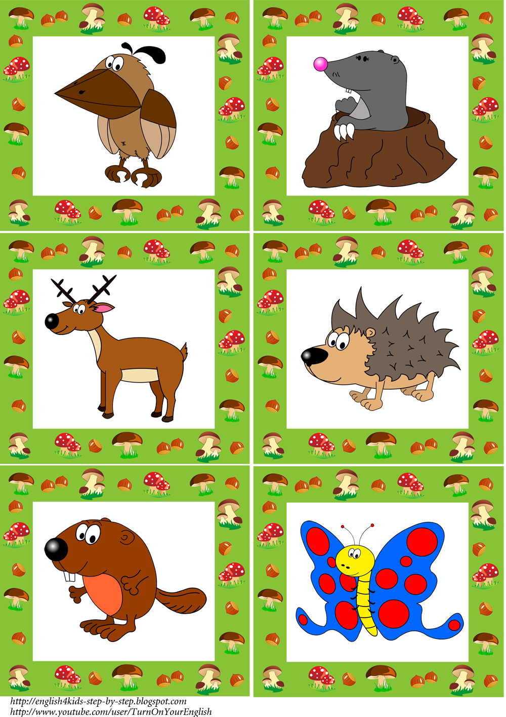 Animated forest animals