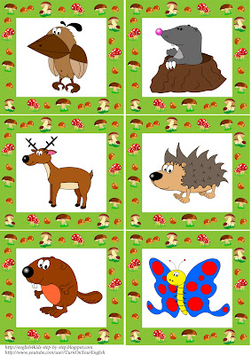 forest animals flashcards 2