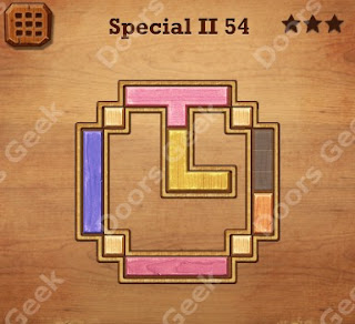 Cheats, Solutions, Walkthrough for Wood Block Puzzle Special II Level 54