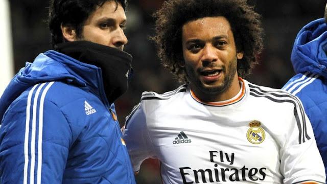 Jornal diz que Marcelo tem lesão na coxa e ficará quase um mês sem jogar