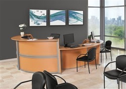 Marque Reception Desk with ADA Section
