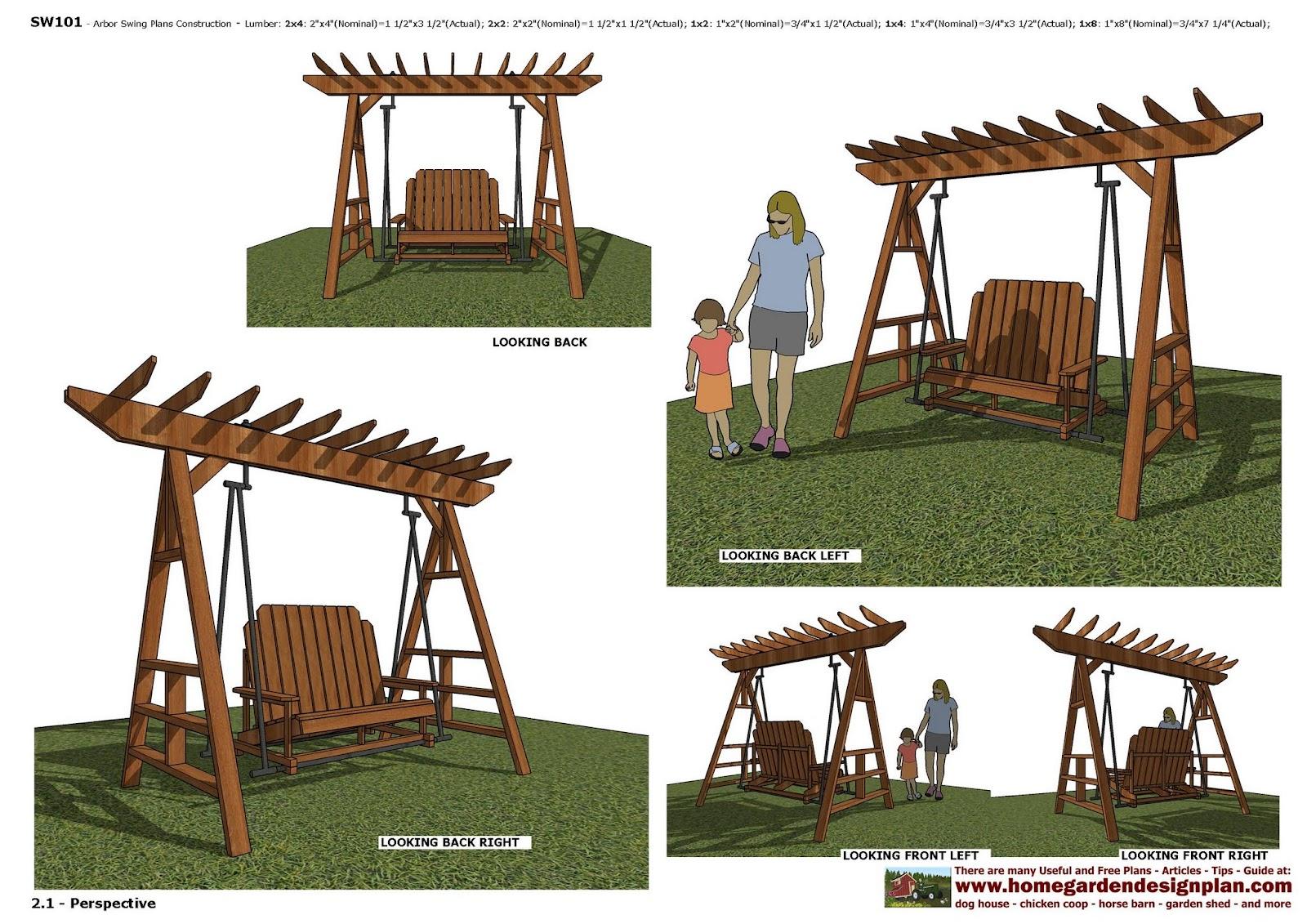 Swing Chair Plan Black Vinyl Covers Home Garden Plans Furniture Arbor