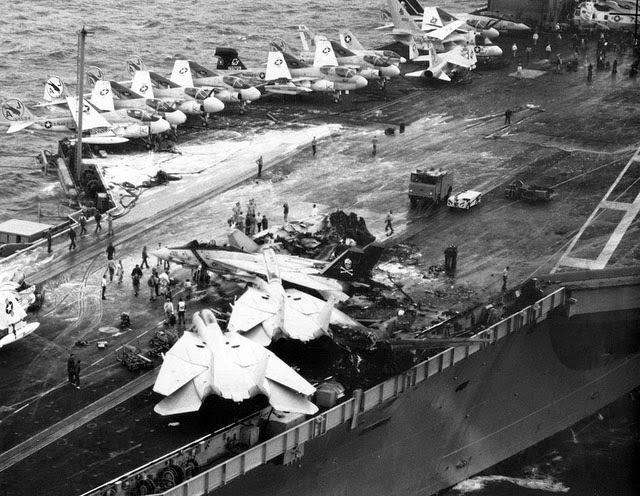 USS Nimitz flight deck crash May 26, 1981